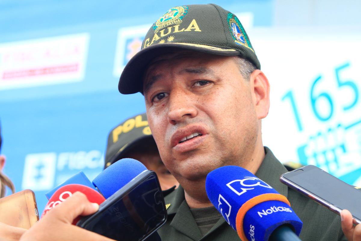 Rueda de Prensa con el General Fernando Murillo, director Nacional del Gaula, sobre el caso de los hermanos Rivera. //Julio Castaño.