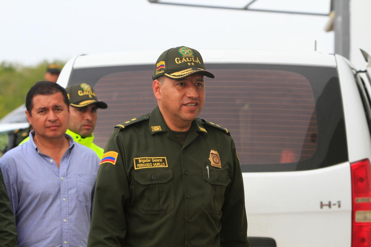 El General Fernando Murillo, director Nacional del Gaula, ofreció detalles sobre el caso de los hermanos Rivera, ganaderos que fueron asesinados por sus captores. Foto: El Universal