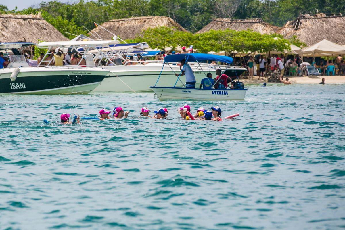 La Isla de Cholón en Barú es un balneario muy concurrido por extranjeros y nacionales. //Fernando Parra- El Universal.