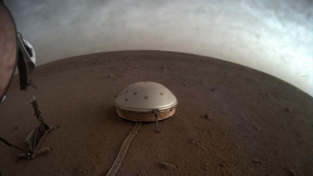 Imágenes provistas por la Nasa de la superficie de Marte.