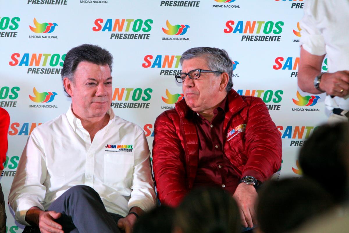 Los expresidentes Juan Manuel Santos y César Gaviria