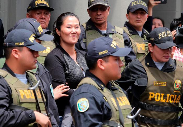 Keiko Fujimori permaneció 13 meses en la cárcel hasta hace dos semanas. // EFE