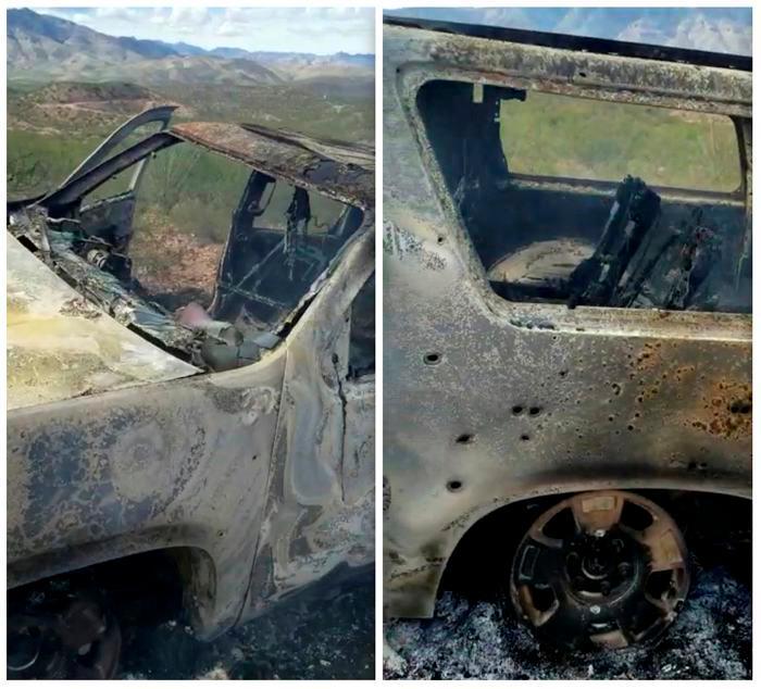 Así quedó el carro donde se transportaban varias de las víctimas.