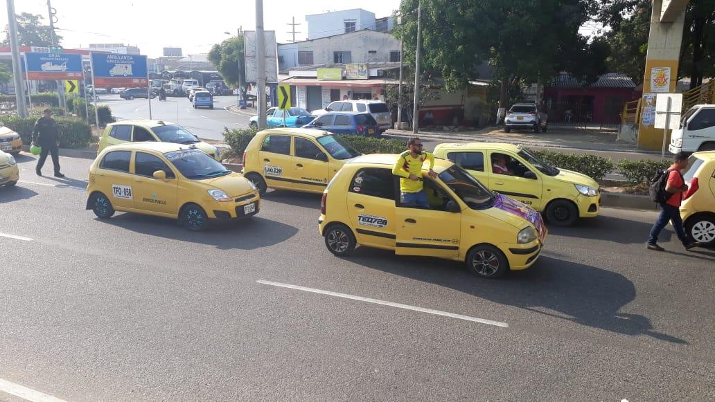 La movilización fue custodiada por agentes de la Policía Nacional y del Tránsito Distrital. // Aroldo Mestre.