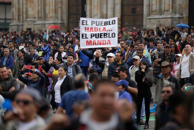 Marchas del magisterio. // Foto: Colprensa.