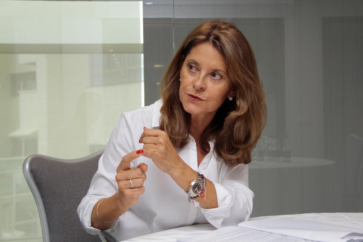 Marta Lucía Ramírez, vicepresidenta de la República.