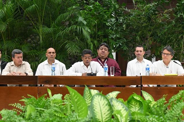 El 10 de mayo de 2018, se instaló la mesa de negociación con el ELN en La Habana, Cuba. // Colprensa.