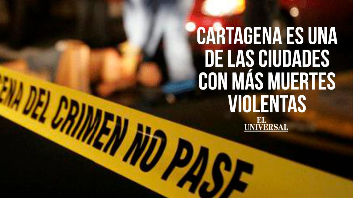 Cartagena ocupa el quinto puesto entre las ciudades con más muertes violentas en Colombia.