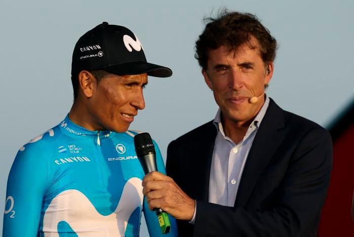 Nairo Quintana durante la presentación de los equipos en la Vuelta a España
