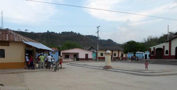 Vista general de la plaza de Norosí, uno de los municipios afectados.