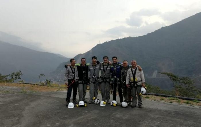 Los siete operarios en Hidroituango. //Cortesía.