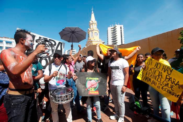Las manifestaciones nacionales en contra del gobierno del presidente Iván Duque comenzaron el pasado 21 de noviembre. // Aroldo Mestre