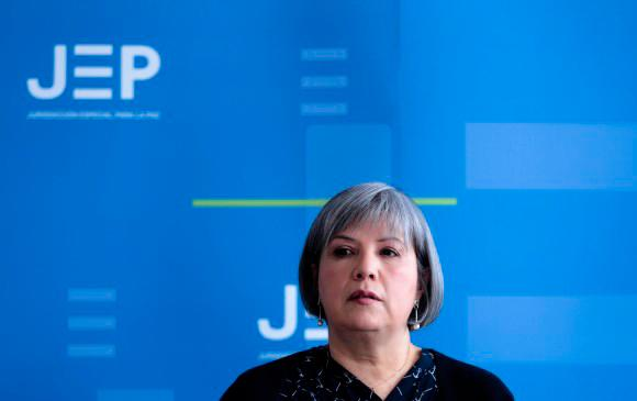 Presidenta de la Jurisdicción Especial para la Paz, Patricia Linares. // Colprensa