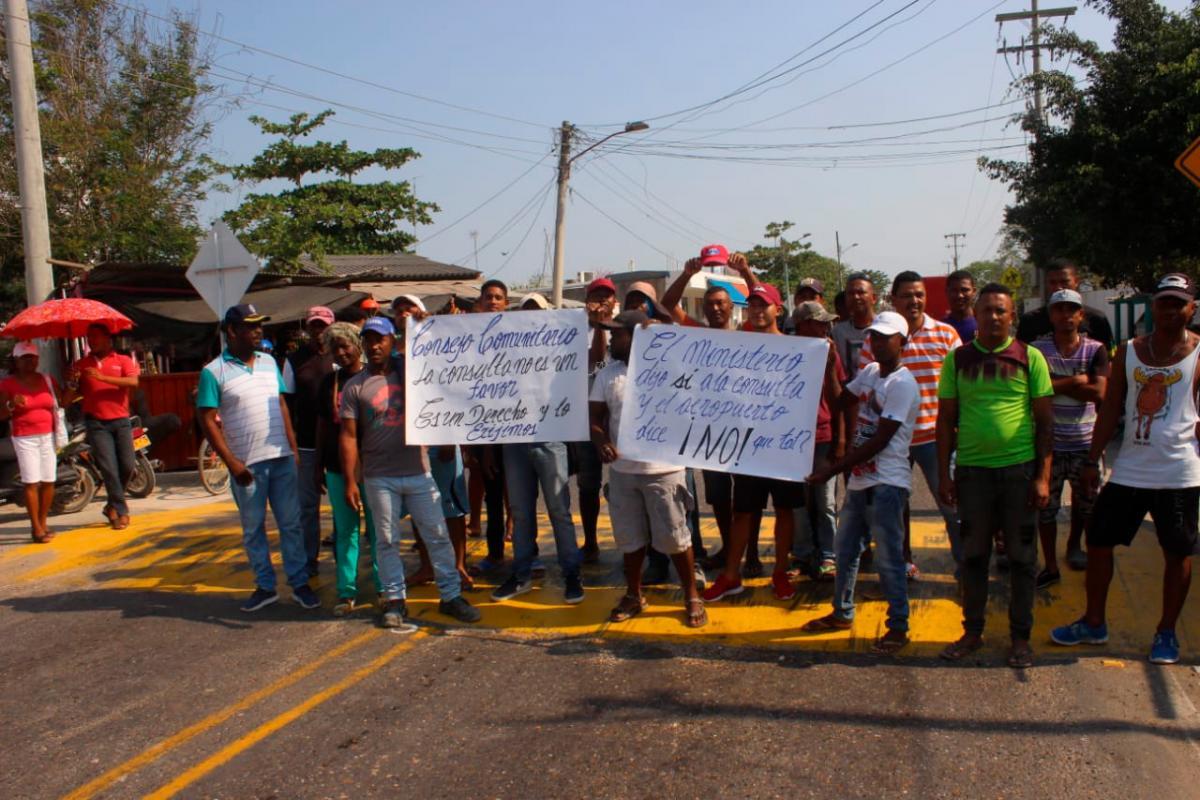 La manifestación está respaldada por el Consejo Comunitario de esa localidad.//EL UNIVERSAL