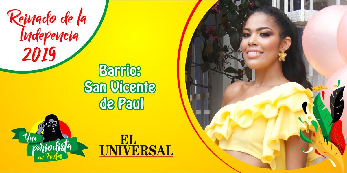Yoryina Martínez es la representante de San Vincente de Paul al Reinado de Independencia