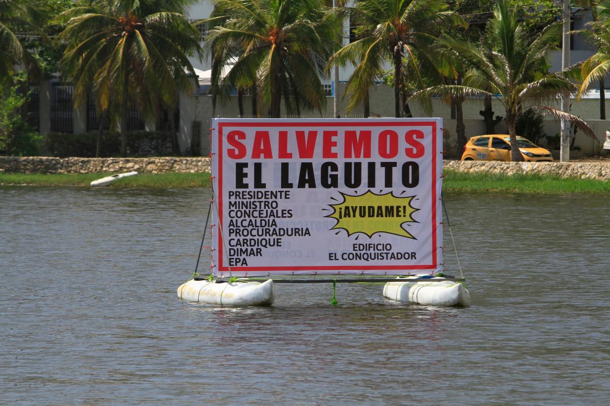 Los habitantes del barrio El Laguito se mantienen vigilantes a las acciones que adelantan las autoridades. // Julio CASTAÑO Beltrán- EU