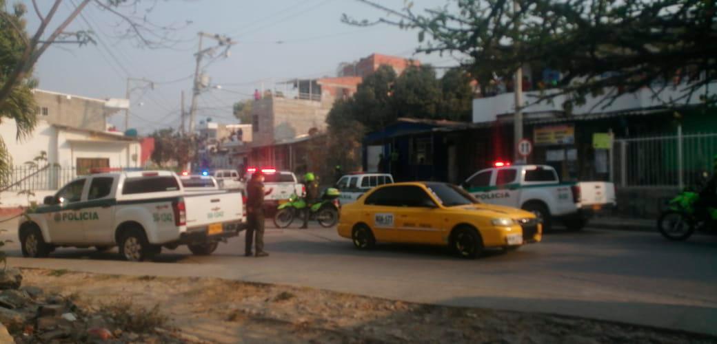 Las autoridades llegaron hasta el sitio para investigar lo sucedido.