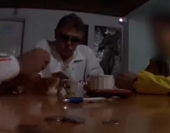 """Seuxis Paucias Hernández, alias """"Jesús Santrich"""". Captura de video."""