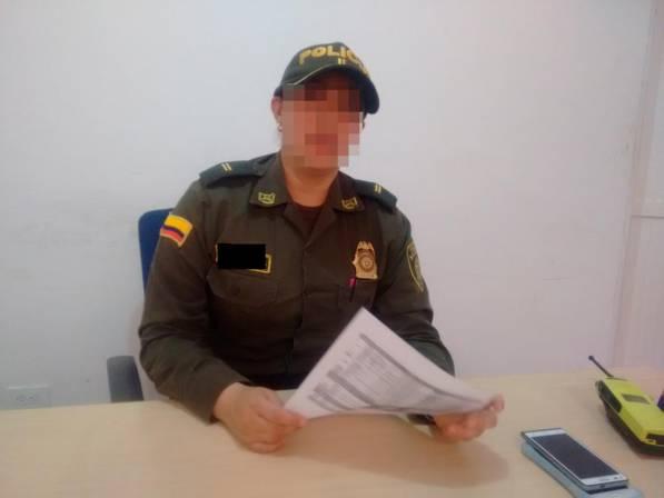 La teniente Kelly Johana Sierra denunció por abuso sexual en su contra al capitán de la Policía Eduardo Merchán Prieto. Foto/Ilustración