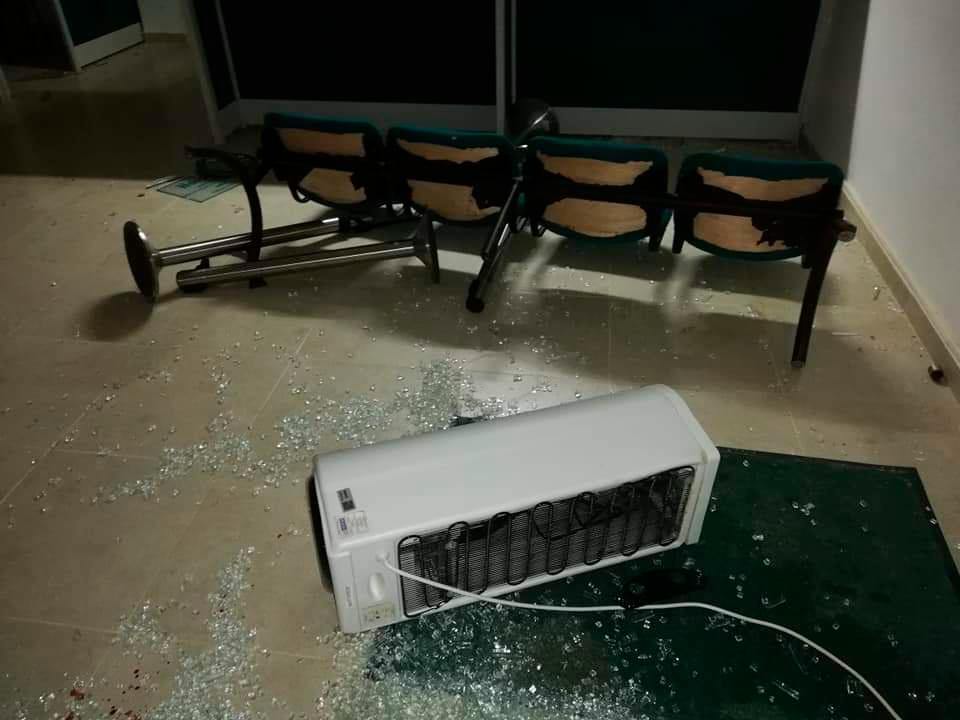 Varias entidades bancarias sufrieron daños. / Fotos: Lila Leyva Villareal.