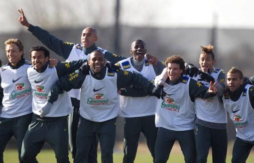 Los jugadores de Brasil entrenaron ayer confiados de sacar un buen resultado