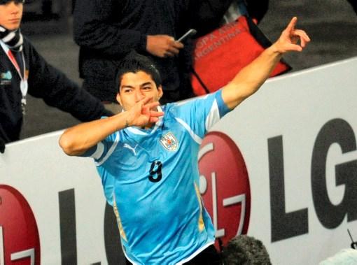 Luis Suárez, autor de los dos goles de Uruguay