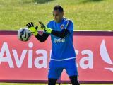 David Ospina durante los entrenamientos.
