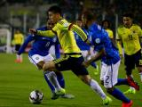 James durante el partido contra Brasil.