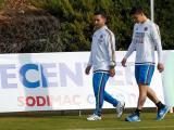 James Rodríguez durante los entrenamientos.