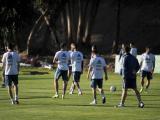 Selección Argentina durante uno de sus entrenamientos.
