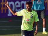 Neymar durante los entrenamientos.