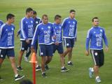 La Selección de Paraguay durante los entrenamientos.