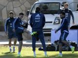 Selección Argentina durante los entrenamientos.