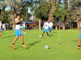 Selección Colombiana durante los entrenamientos.