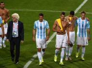 Selección Argentina luego del partido contra Jamaica.