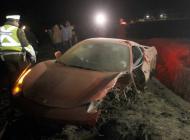 Así quedó el Ferrari de Arturo Vidal. carro