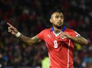 Arturo Vidal celebra su gol ante Ecuador.