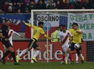 La Selección Colombia en el partido contra Perú.