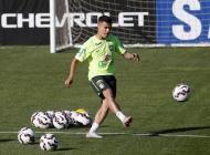 Philippe Coutinho durante los entrenamientos.