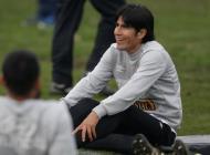 Edwin Retamoso durante el entrenamiento de Perú.