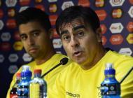 Gustavo Quinteros durante la rueda de prensa.