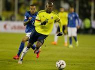 Victor Ibarbo durante el partido contra Brasil.