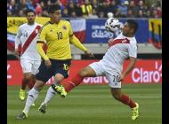James Rodríguez durante el partido contra Perú.