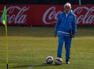 Jose Pekérman durante los entrenamientos.