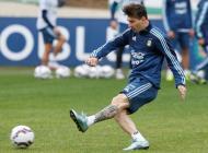 La Selección Argentina afina la puntería de cara al partido contra Colombia.
