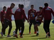 La selección peruana prepara su partido contra Chile.