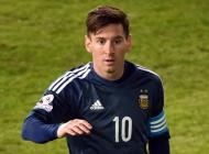 Lionel Messi durante el partido ante Uruguay.