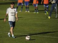 Lionel Messi durante los entrenamientos.