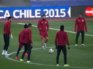 Selección peruana durante los entrenamientos.