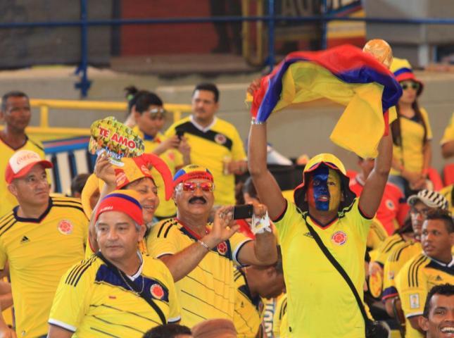Hinchas de la Selección Colombia.